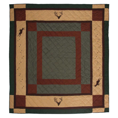 Patch Magic Deer Trail Cotton King Quilt