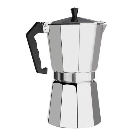 600ML Aluminum 12 Cup Coffee Maker Moka Pot Expresso Latte Stove Top Percolator Home Christmas (Moka Coffee Pot)
