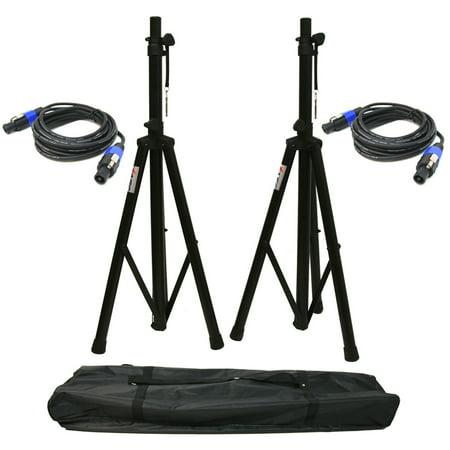Pro Audio DJ Universal Pa Speaker Adjustable Tripod Stands & Bag Package Kit