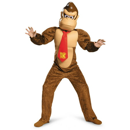 Super Mario Brothers Donkey Kong Deluxe Costume for Kids](Donkey Costumes For Kids)