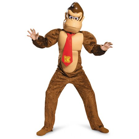 Super Mario Brothers Donkey Kong Deluxe Costume for Kids](Super Deluxe Costumes)