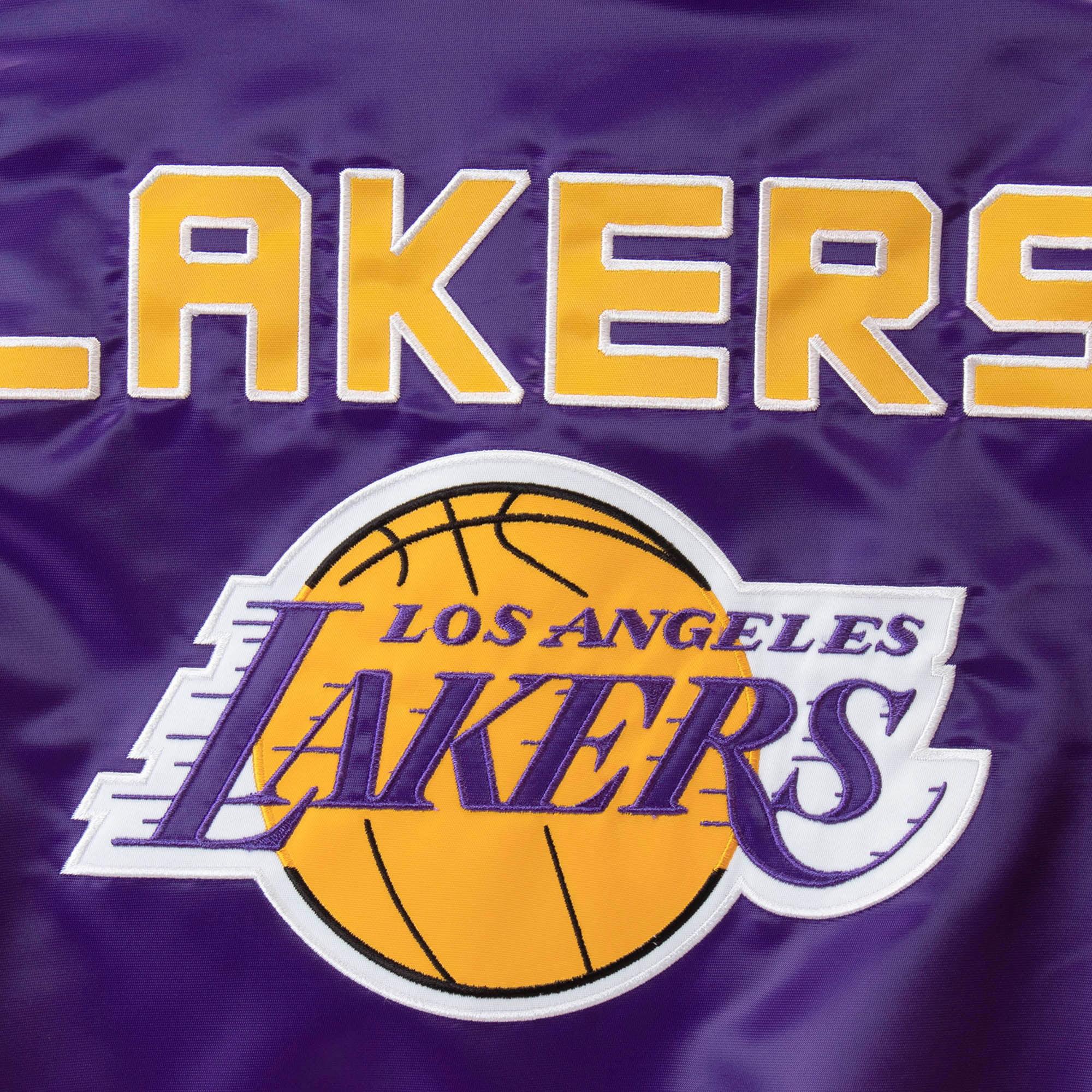a2f08ff76314 Los Angeles Lakers Starter Women s Tie Breaker Satin Full-Zip Jacket -  Purple Gold - Walmart.com