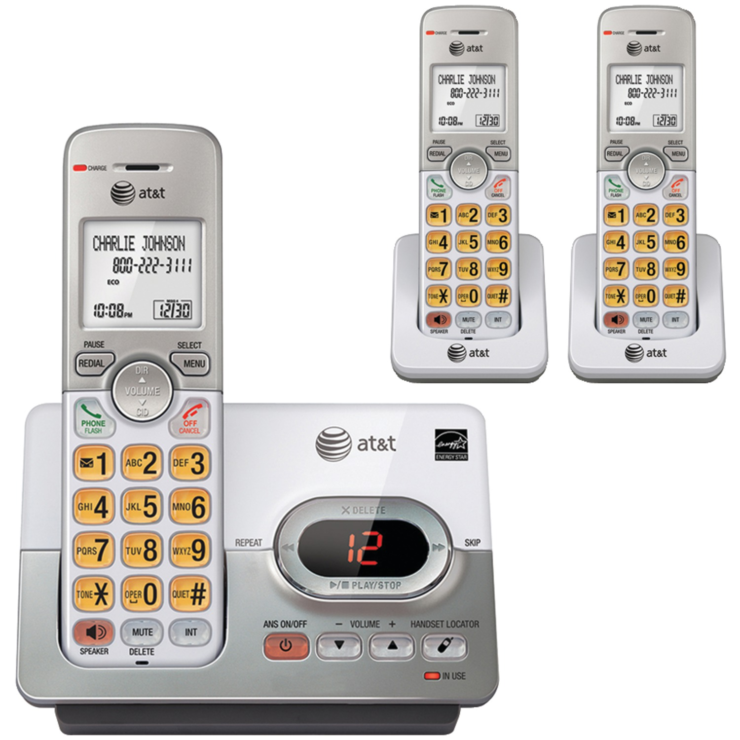 AT EL52303 3-Handset Answering System With Caller ID & Call Waiting