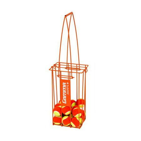 GAMMA Tennis Ball Hopper Hoppette 50 Balls Capacity - Balls Not Included -Orange Best Tennis Ball Machine