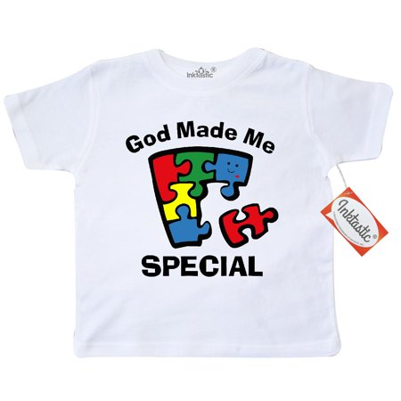 Inktastic Autism God Made Me Special Toddler T-Shirt awareness jigsaw puzzle kawaii needs asperger syndrome im asd pinkinkartkids mystery tees. gift child preschooler kid clothing apparel