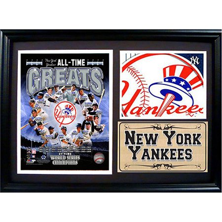 MLB New York Yankees Photo Stat Frame, 12x18