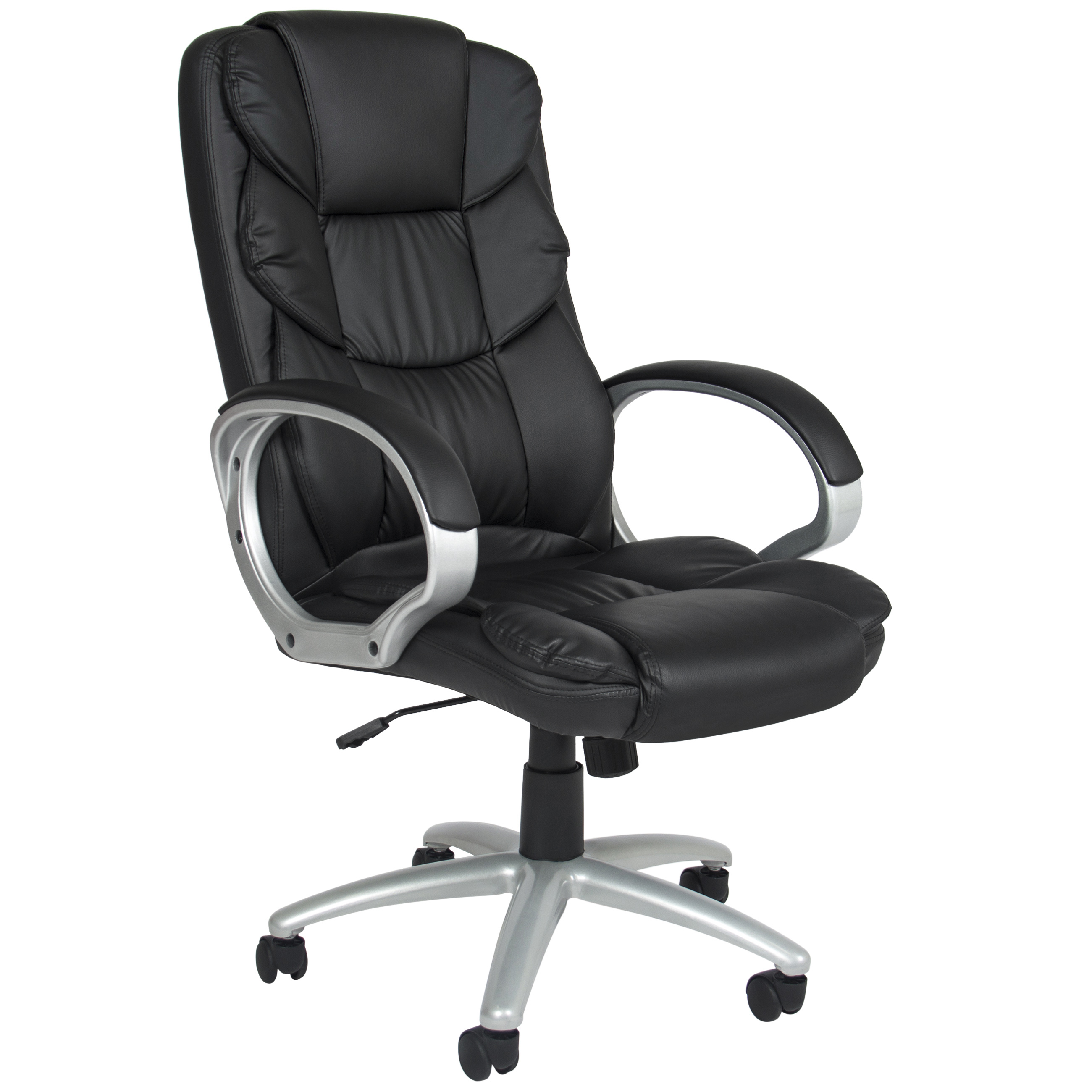 Desk Chair High Back - Best choice products ergonomic pu leather high back office chair black walmart com