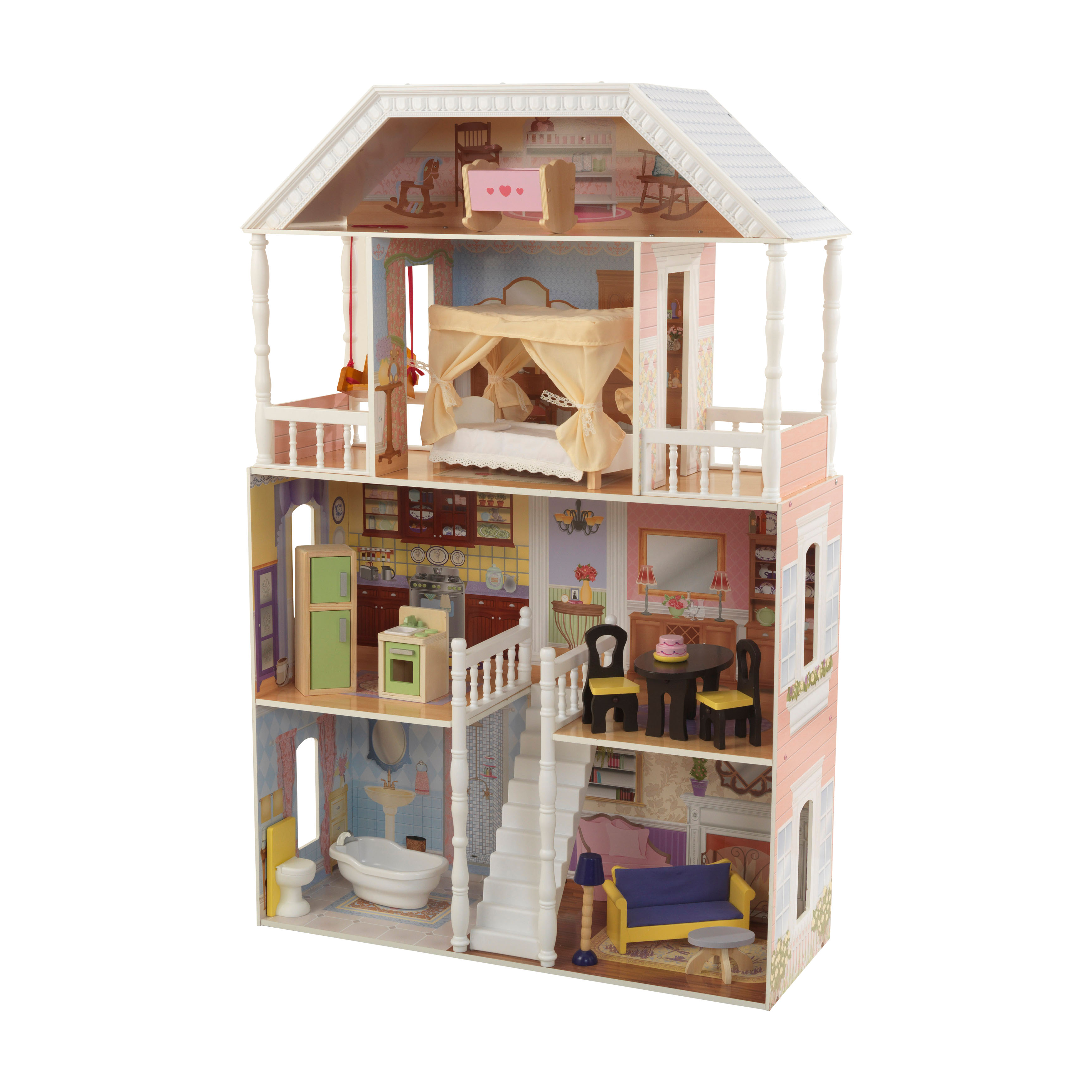 Click here to buy KidKraft Savannah Dollhouse with 13 accessories included by KidKraft.