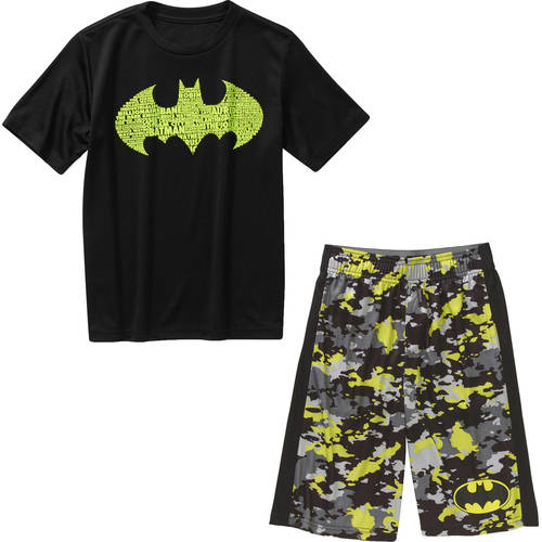 DC Comics Batman Boys' Activewear Mix and Match Outfit Value Bundle