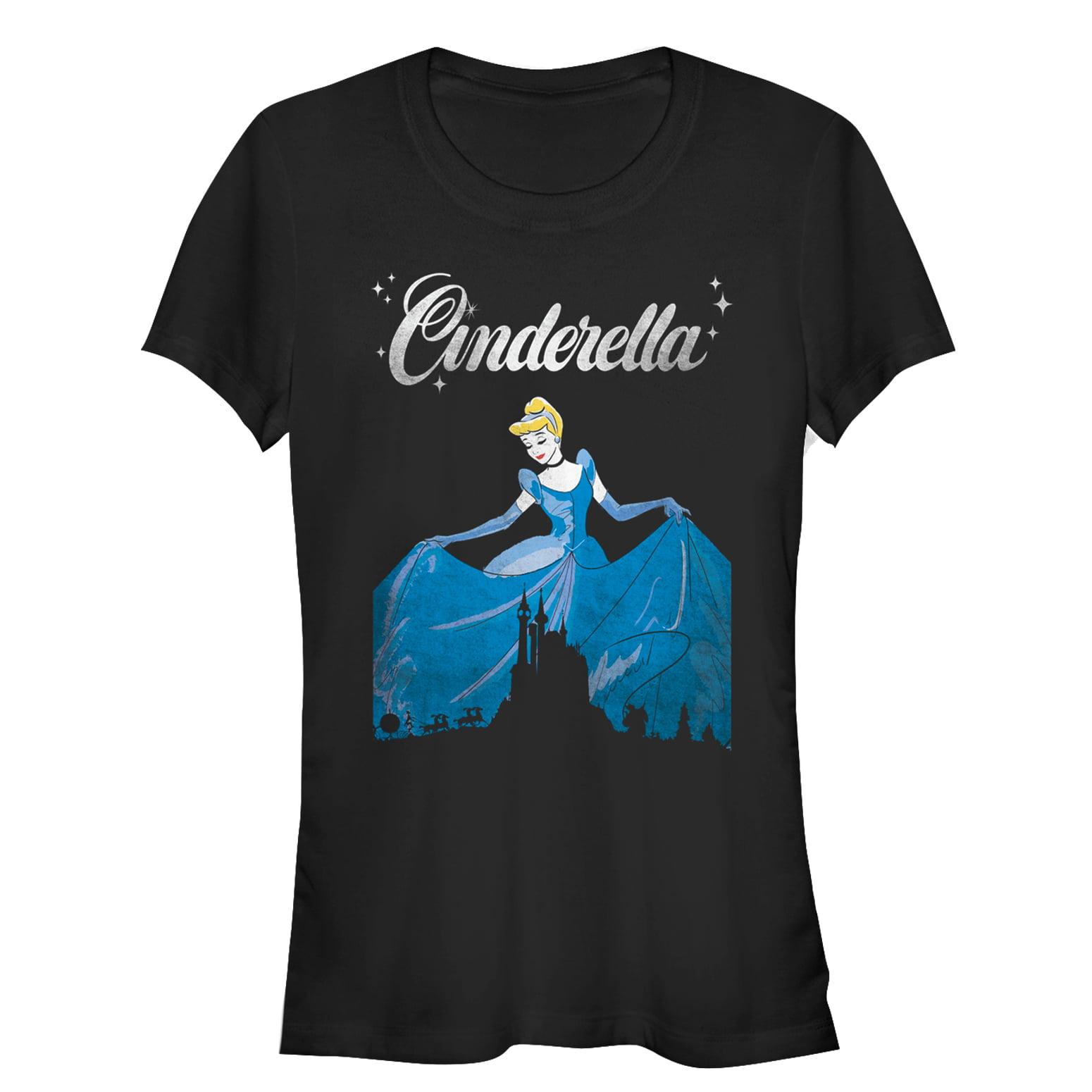 Cinderella Juniors' Dress Silhouette T-Shirt