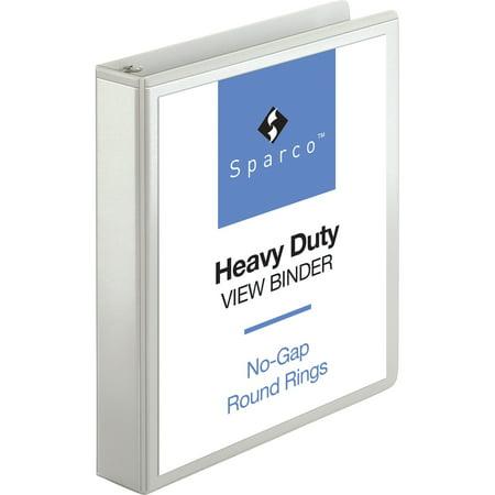 Sparco, SPR19651, Premium Round Ring View Binders, 1 Each, - Sparco Plastic Binder
