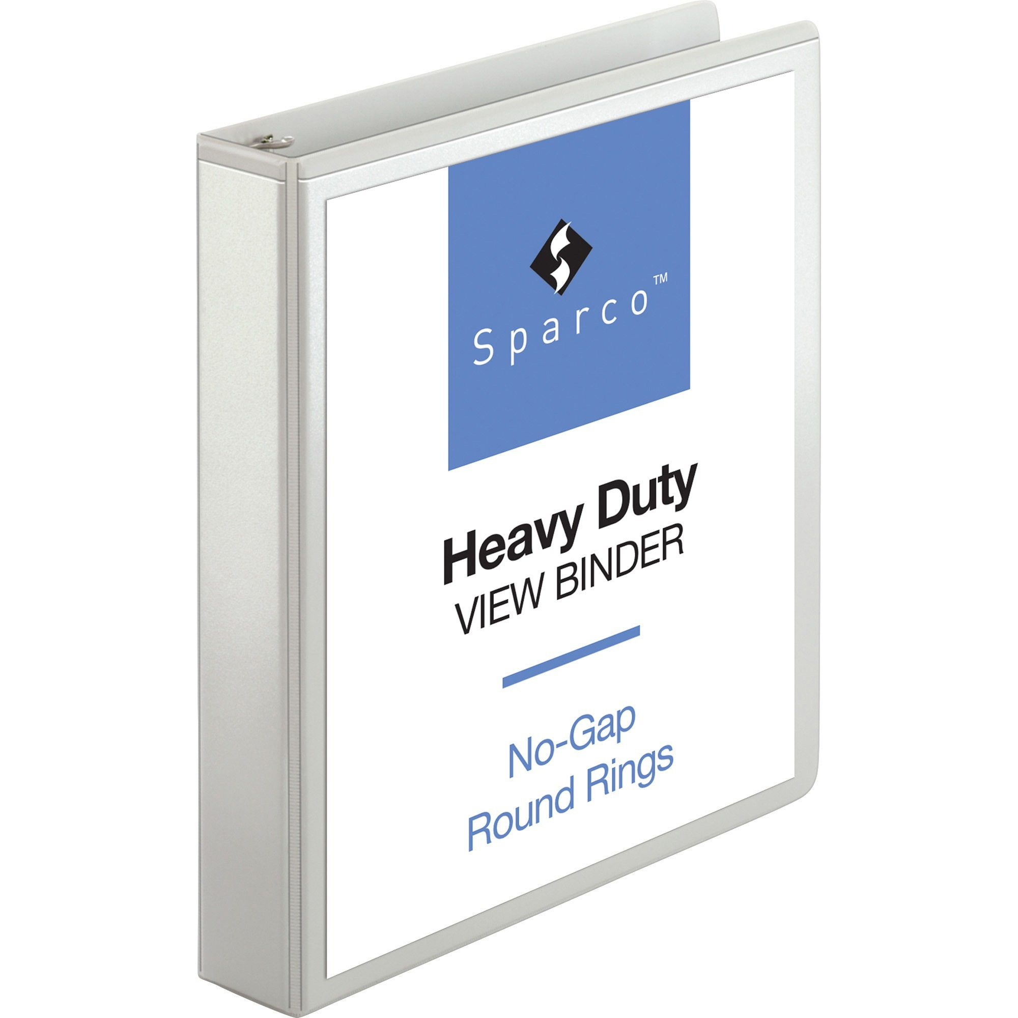Sparco, SPR19651, Premium Round Ring View Binders, 1 Each, White