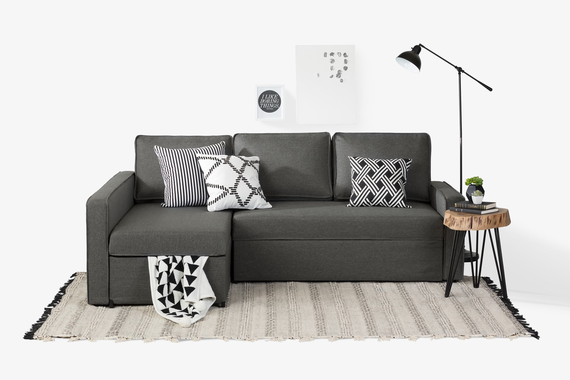 South shore live it cozy sectional sofa bed with storage multiple finishes walmart com