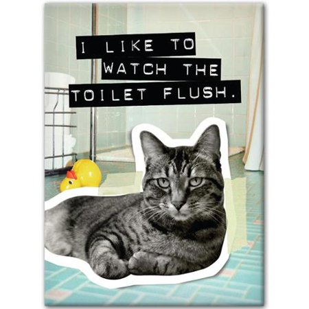 Cat I Like To Watch Toilet Flush Magnet   Funny Cats By Hot Properties
