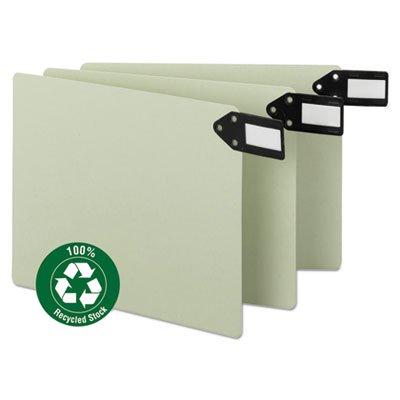 (Green End Tab Guides, Blank, Horizontal Metal Tabs, Pressboard, Letter, 50/Box, Sold as 1 Box, 50 Each per Box)