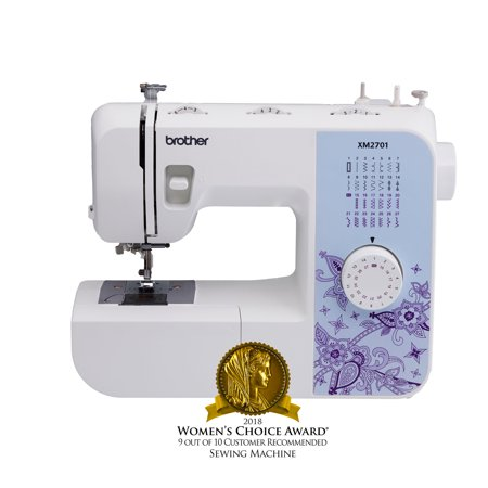 Sewing Machine Head (Brother XM2701 Lightweight, Full-Featured Sewing Machine with 27 Stitches, 1-Step Auto-Size Buttonholer, 6 Sewing Feet, and Instructional DVD)