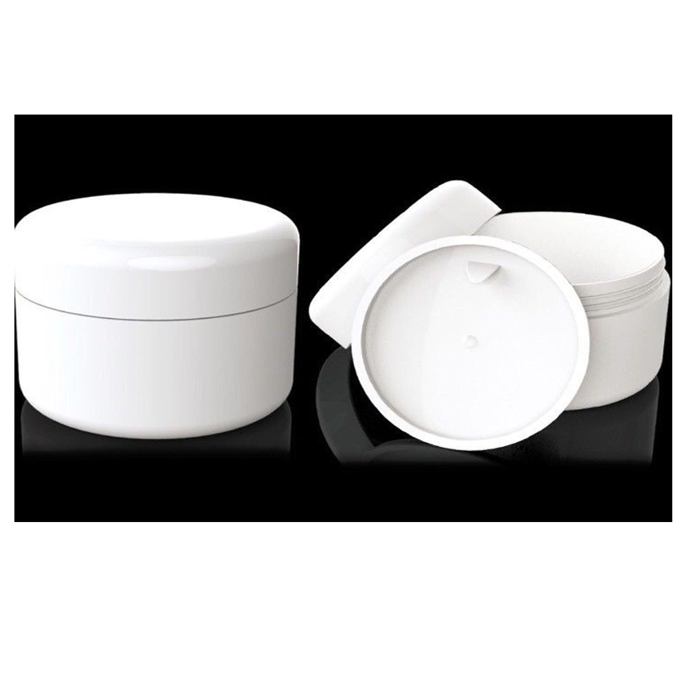 6 White Jars 4 oz Cosmetic Cream Containers Packaging Empty Dome Lids Plastic