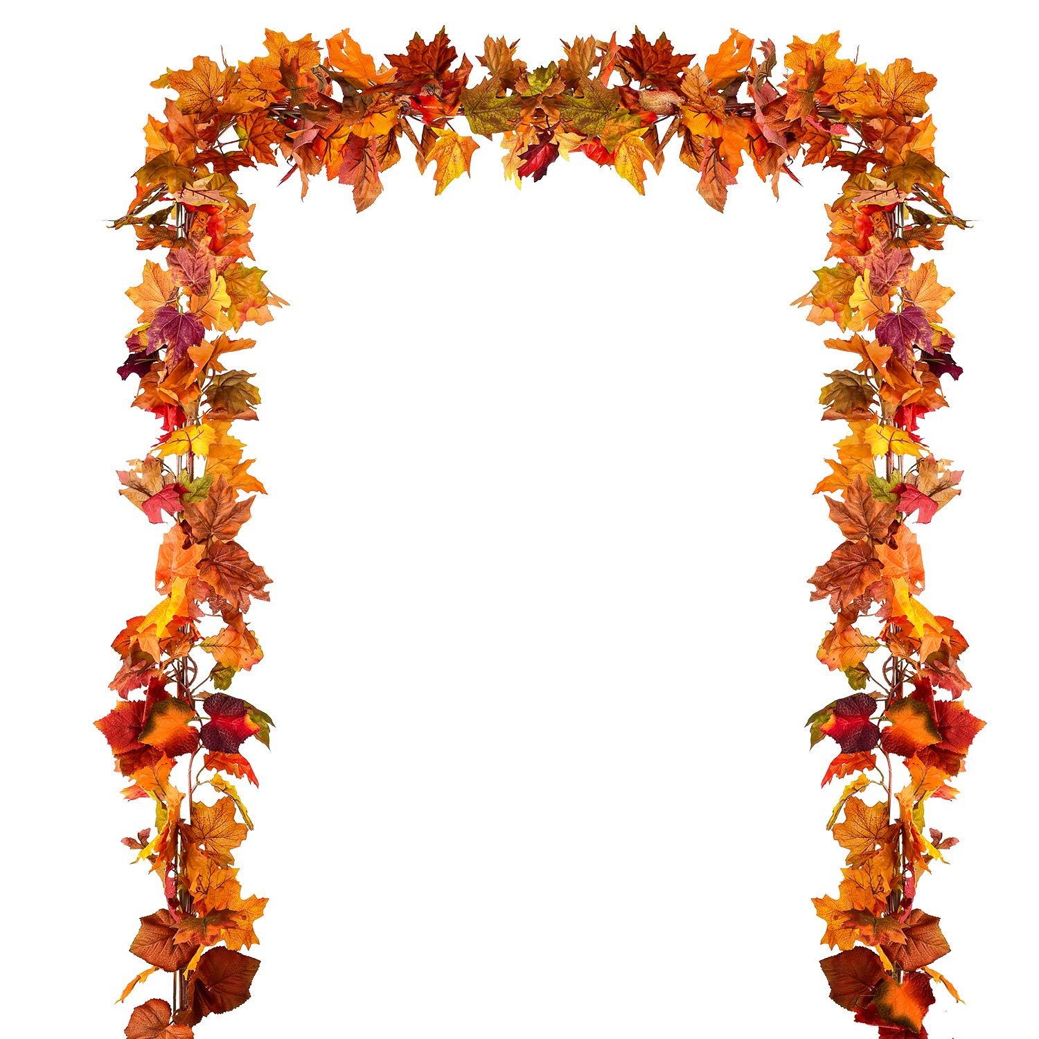 Coolmade 2 Pack Fall Garland Maple Leaf 5 9ft Piece Hanging Vine Garland Artificial Autumn Foliage Garland Thanksgiving Decor For Home Wedding Fireplace Party Christmas Walmart Com Walmart Com