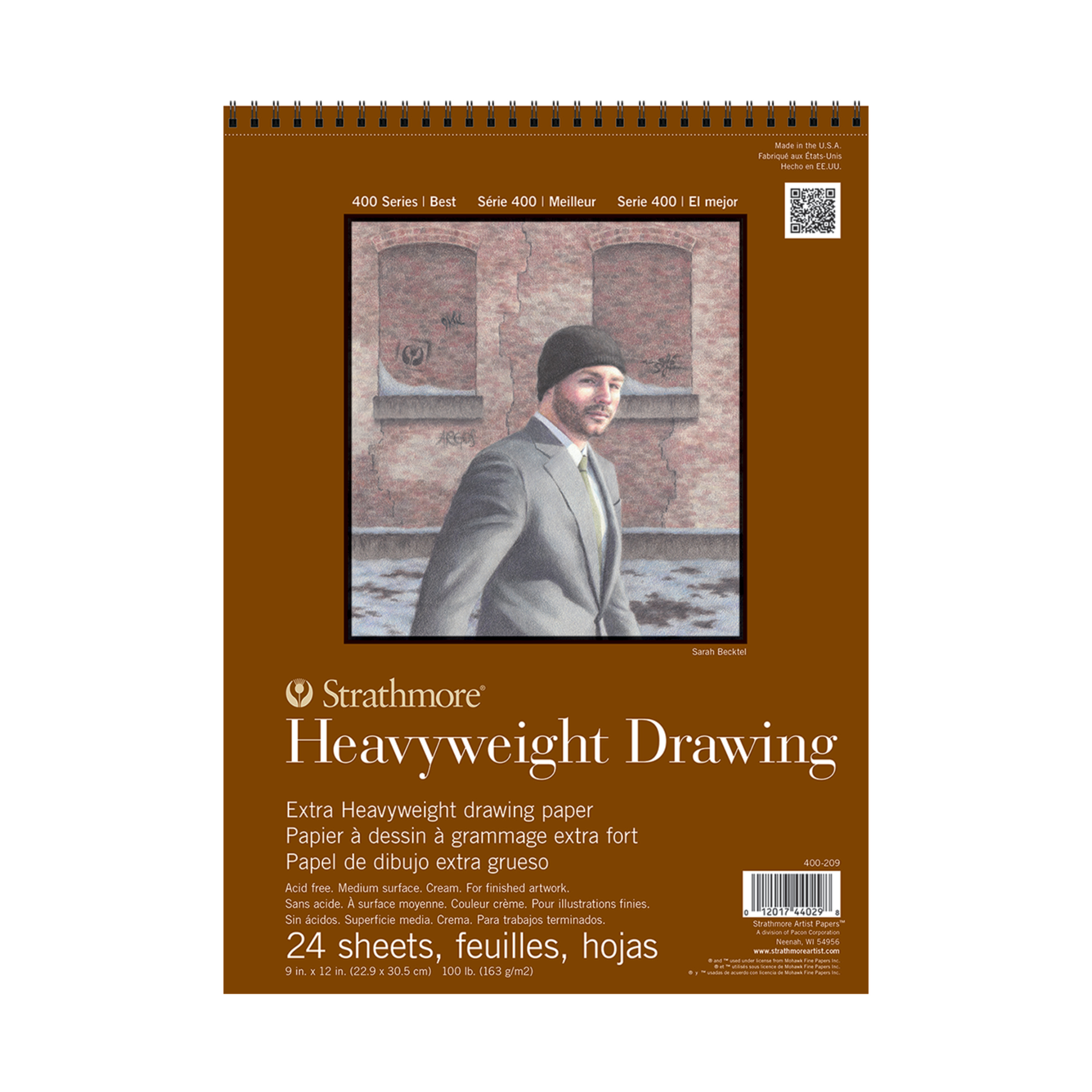 Strathmore Drawing Paper Pad, 400 Series, 24 Sheets, 9in x 12in