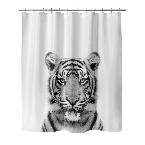 Bloomsbury Market Bemot Tiger Shower Curtain