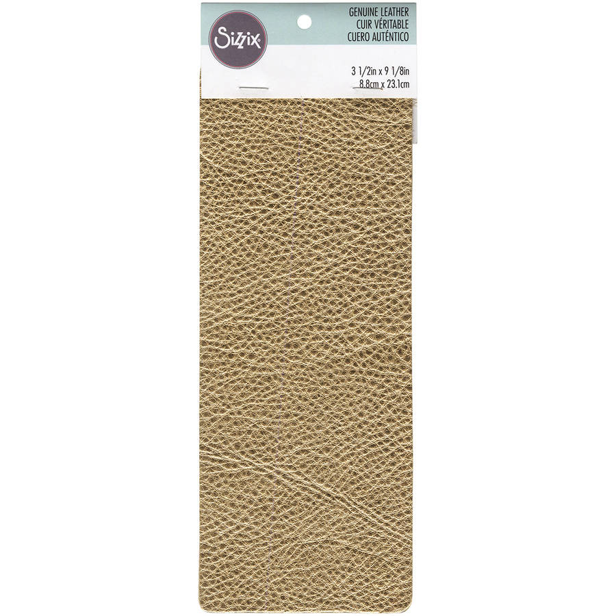 "Sizzix Metallic Cowhide Leather 3"" x 9"", Gold"