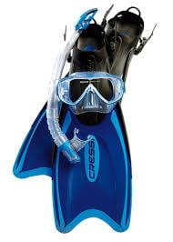 Mask /& Fins made in Italy Palau Set Cressi Adult Light Weight Premium Travel Snorkel Set