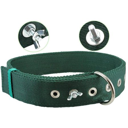 - Bolted Heavy Duty Extra Wide Triple Layer Dog Collar for Medium to Large 15