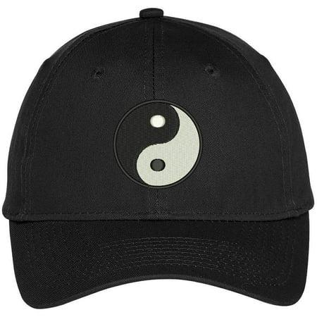 - Trendy Apparel Shop Chinese Yin Yang Dark Bright Embroidered Baseball Cap - Black