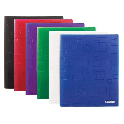 BAZIC Cubic Embossed?2-Pockets Poly Portfolio Case Pack 48