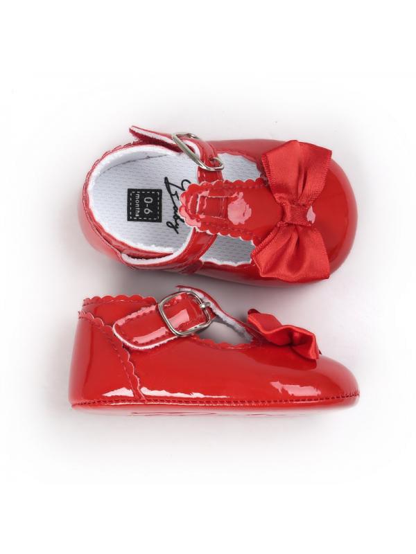 12.5 M Little Kid, Rose red Cwait Girls Big Bow Beach Slide Sandals Cute Outdoor Slippers