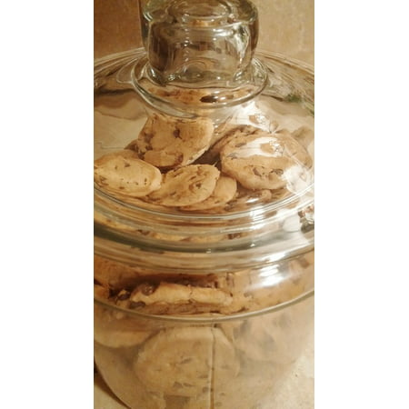 Canvas Print Cookie Jar Biscuits Cookies Jar Chocolate Chip Stretched Canvas 32 x (Chocolate Chip Cookies In A Jar Recipe Card)