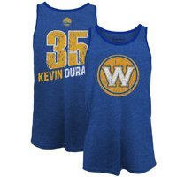 Kevin Durant Golden State Warriors Majestic Threads Name & Number Tri-Blend Tank Top - Royal