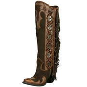Lane Western Boots Womens Double D Domingo Fringed DD9036A