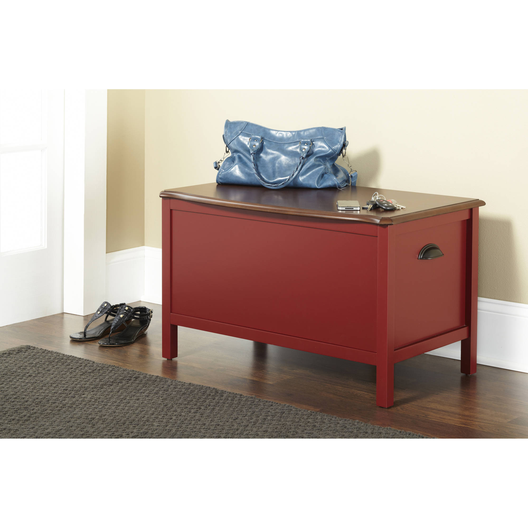10 Spring Street Hinsdale Storage Bench, Multiple Colors