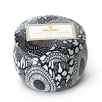 Voluspa Decorative Tin Candle - Voluspa French Cade & Lavender Limited Decorative Tin Candle 3.5 oz