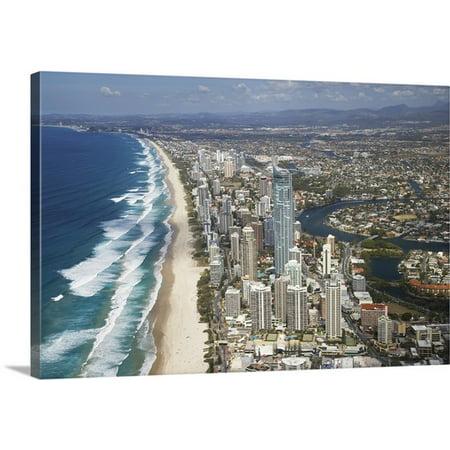 Great BIG Canvas David Wall Premium Thick-Wrap Canvas entitled Australia, Queensland, Gold Coast, Q1 Skyscraper, Surfers Paradise - (Surfers Parade)