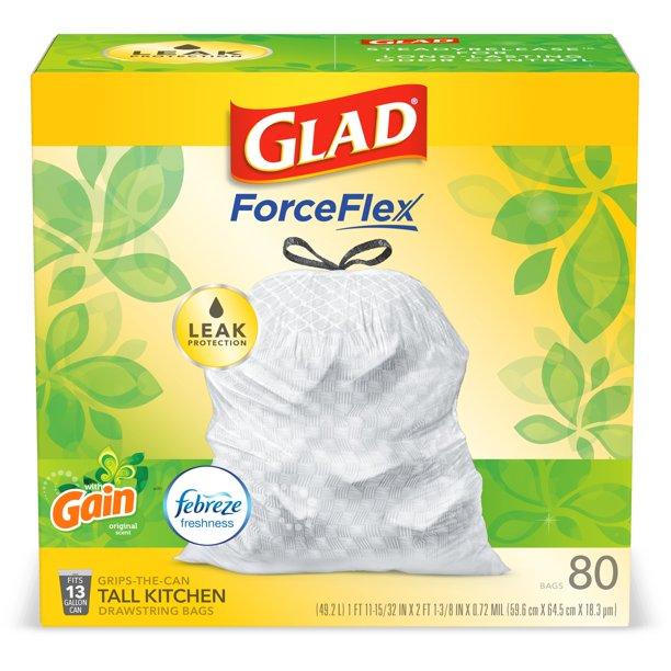 Glad Tall Kitchen Trash Bags 13 Gallon