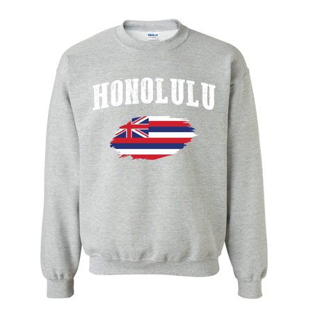 Honolulu Oahu Hawaii Unisex Crewneck Sweater