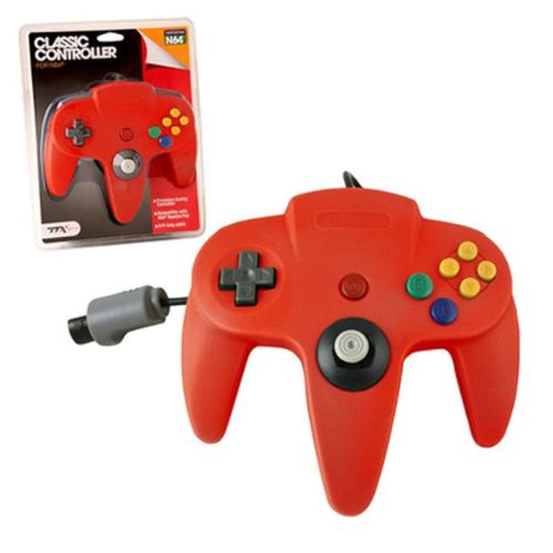 Wired Controller For Nintendo 64 System Red