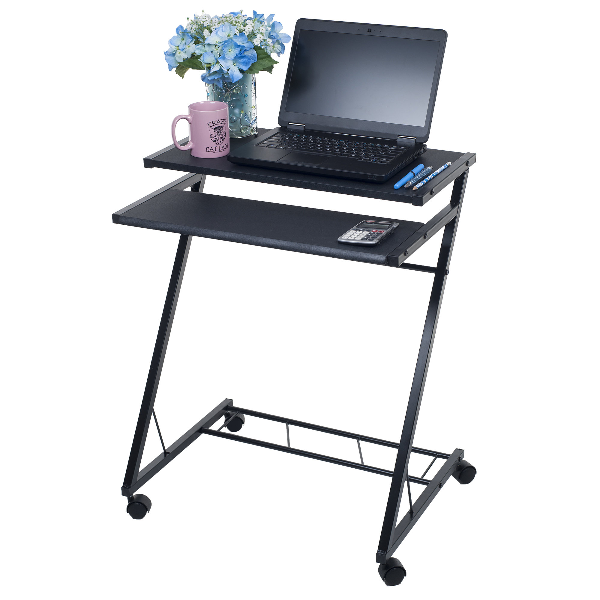 Ordinaire Mobile Rolling Cart Compact Computer Desk