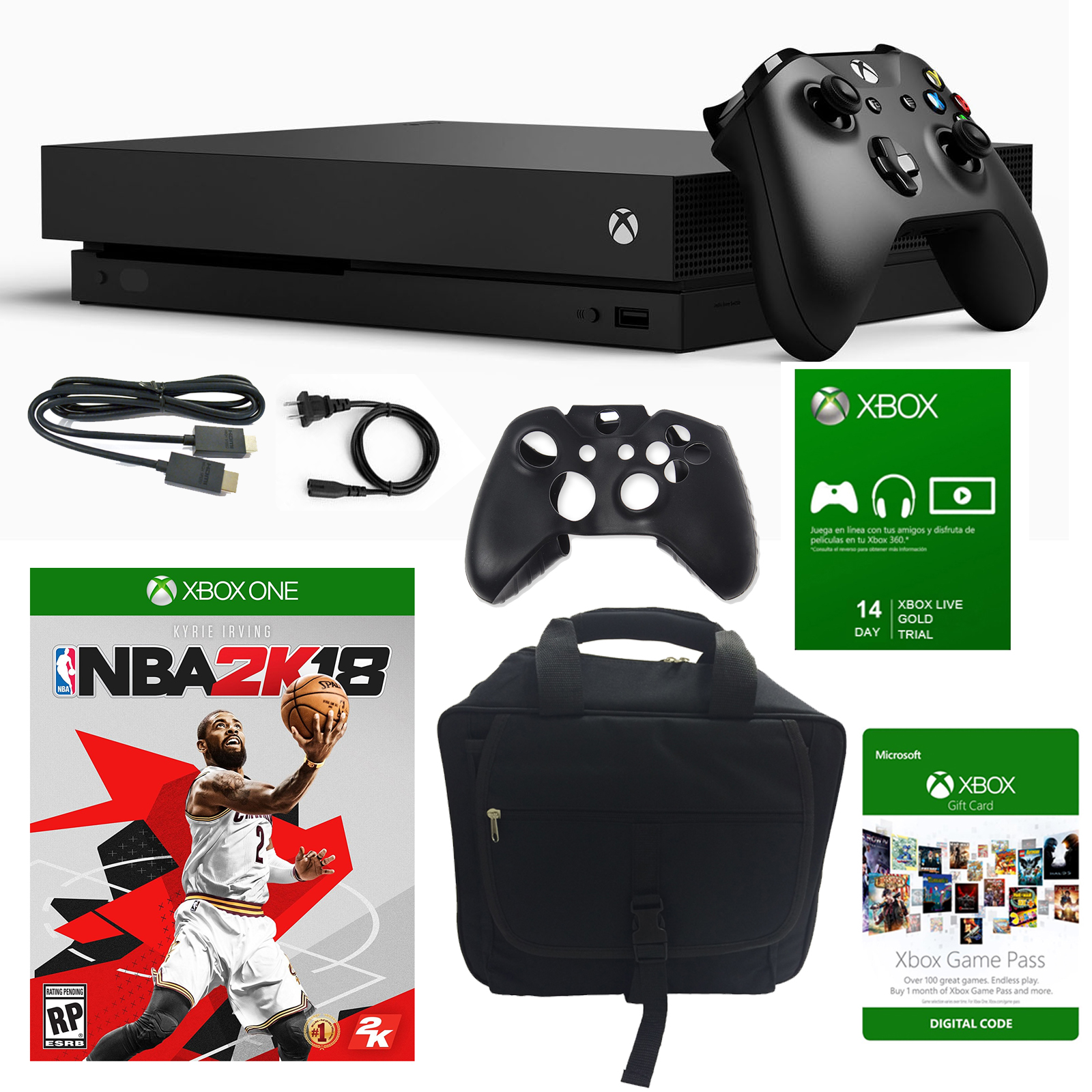 Xbox One X 1TB Console with NBA 2K 18 and Accessories by Xbox