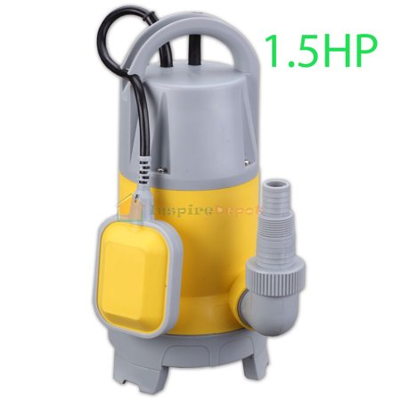 STKUSA 1.5HP Submersible Water Pump, 3700GPH