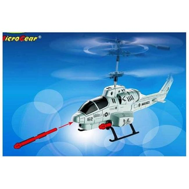 Microgear EC10220-Silver Remote Control Rc Shark Shooter 3. 5 Channel Gyro Helicopter - Silver
