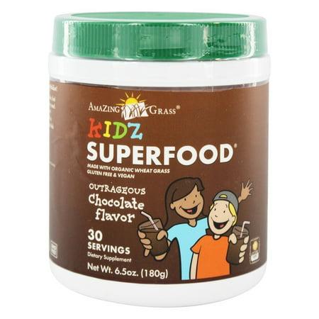 Amazing Grass - Kidz SuperFood Powder 30 Servings Outrageous Chocolate Flavor - 6.5 oz.