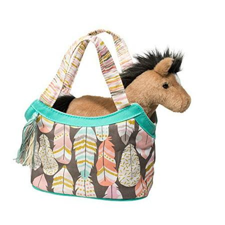 Douglas Toys Dream Feathers Sassy Sak Tote Bag with Horse