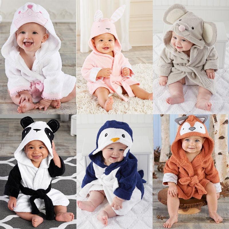 Personalised Baby Hooded Bath Towel Robe Boy Girl Gift
