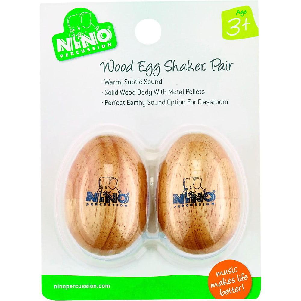 Nino Natural Wood Egg Shaker Pair, Small