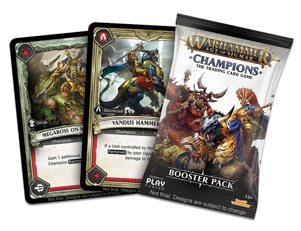 Warhammer Age of Sigmar Champions Trading Card Game Booster Box [24 packs] by PlayFusion