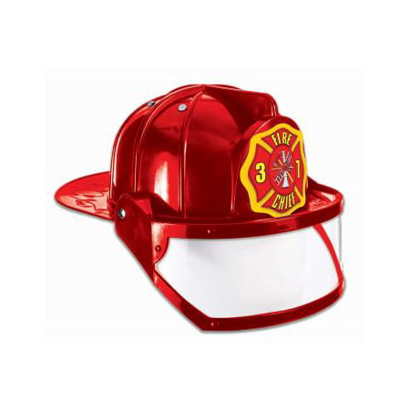 CHILD-DELUXE FIRE HAT-RED