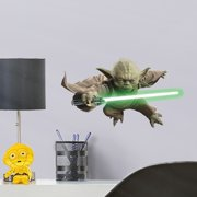 Fathead Yoda - Large Officially Licensed Star Wars Removable Wall Decal
